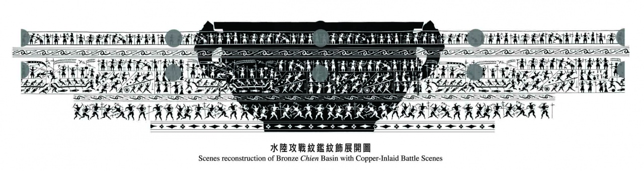 Chien Basin with Copper-inlaid Battle Scenes